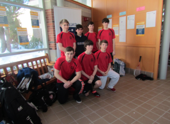 New Canaan High School Varsity B squash team. Contributed