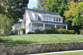 The prominent 1910 Colonial at 275 Main St. in New Canaan, renovated and restored, hit the market on Feb. 24, 2015, and sold just four months later. Credit: Michael Dinan