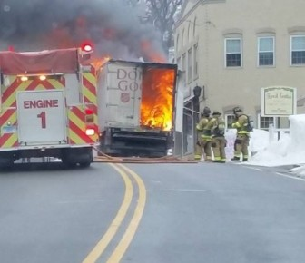 Around noon on Feb. 5, a fire erupted in the back of a Salvation Army truck on East Avenue, just below Forest Street.