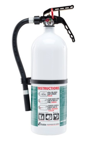 Kidde Disposable Fire Extinguisher with plastic valve. Photo courtesy of the U.S. Consumer Product Safety Commission