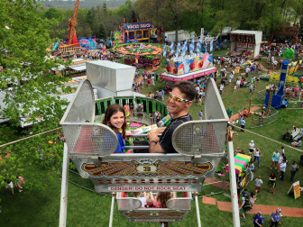 "This photo by Jane Beiles aboard the ferris wheel at the May Fair, high above the entirely pesticide-free grounds of St. Mark's Episcopal Church, earned first place in New Canaan Community Foundation's first-ever ""I [Heart] New Canaan"" photo contest."