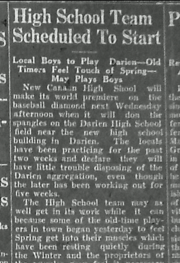 From the April 21, 1927 edition of the New Canaan Advertiser.