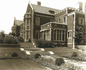 An early photo of Waveny House, when it was property of the Lapham family. The home was built in 1912. Photo courtesy of the New Canaan Historical Society