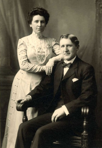 Nellie and Walter Stewart. Photo courtesy of the Stewart family
