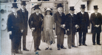 "Henry Kelley, maternal grandfather to Leo Karl Jr. (Leo and Steve's dad) is standing third from the left, beside First Lady Grace Coolidge and her husband ""Silent Cal"" Calvin Coolidge, in 1928. Photo courtesy of the Karl family"