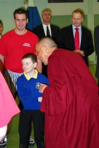 Mike Evans met the Dalai Lama in Northern Ireland ca. 2006. Contributed