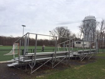 These stands at the water tower turf field will be replaced. Credit: Michael Dinan
