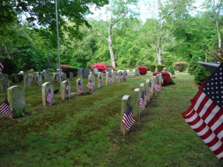 Veterans Flags at Lakeview and New Canaan ...