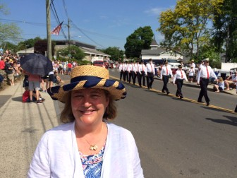 Tracey Karl at the 2015 Memorial Day Parade on Main Street. Credit: Michael Dinan