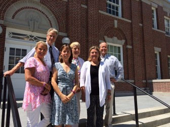 The committee that is overseeing New Canaan's Volunteer Awards and two representatives from the New Canaan Community Foundation, L-R: Tucker Murphy, Jerry Miller, Cynthia Gorey (NCCF executive director), Eloise Killefer, Tracey Karl and Leo Karl (president of the NCCF board). Credit: Michael Dinan