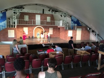 "Rehearsals at Summer Theatre of New Canaan of ""Legally Blonde—The Musical,"" which opens June 24. Credit: RJ Scofield"