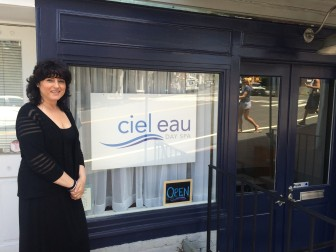 Owner Alicia Brandfellner stands outside Ciel Eau. The spa will have its grand opening in September. Photo by Mackenzie Lewis