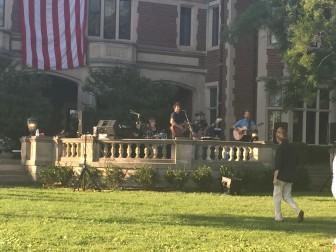 Artist Doug Allen playing his set at this weeks installment on Waveny's Summer Concert Series. Credit: Bella Carpi