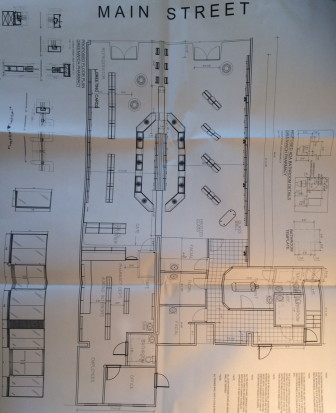 Floor plan for Greenwich Pharmacy. Specs by Fishell Architecture of Stamford