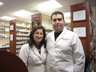 Susana and Dmitri Daniarov, owners of Greenwich Pharmacy on Greenwich Avenue, are opening a location on Main Street in New Canaan. Leslie Yager photo