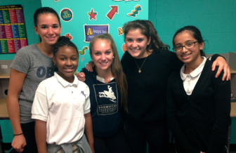 Participants in the inaugural Camp LiveGirl: Elena Aliapoulios, Janiyah, Abi Farley, Olivia Huntsinger, and Ameera. Contributed