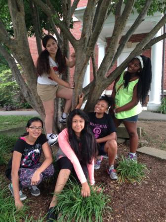 Five participants in the first-ever Camp LiveGirl, from Wakeman Boys & Girls Club of Bridgeport. L-R: Ameera, Ariel, Shelby, Ariana, Tahlea. Contributed