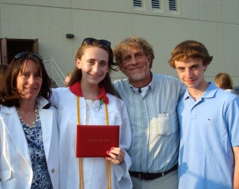 The Hutchins family at Emma's graduation in 2011. Contributed