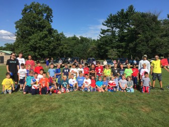 Last day of New Canaan Flag Football Camp for second-graders. Photo courtesy of Craig Hunt