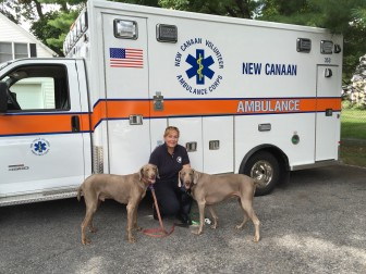 Oei claims the generosity of New Canaan is what makes things like this shiny ambulance possible.