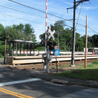 Talmadge Hill Railroad Crossing