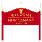 Welcome To New Canaan Sign