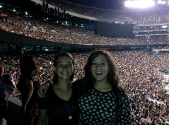 With my friend from New Canaan at a concert during our freshman year