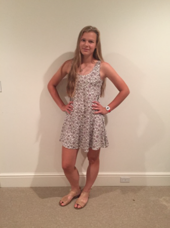 """Alice Gelhaus, NCHS '17, shows off her stylish outfit for this installment of """"Street Style."""" Credit: Bella Carpi"""