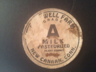 Deepwell Farm milk bottle cap, unearthed in the historic home at 1328 Smith Ridge Road.