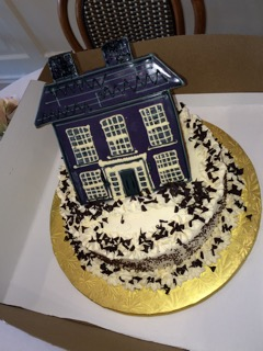 """Gingerbitz on Elm Street made the cake for the """"reunion"""" party of families that have occupied the historic home at 1328 Smith Ridge Road. Contributed"""