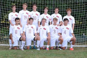 Seniors on the NCHS Rams varsity soccer team of 2015. Photo by Christine Betack