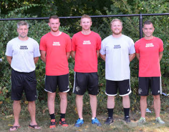 Coaches of the NCHS varsity boys soccer team. Photo by Christine Betack
