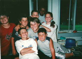 Some friends from the time we were at Saxe Middle School. Back row, L-R: Jack Palombo, Willie Ouellette, Casey Ouellette, Al Joyner and Jake Socci; Middle: Jes Sauerhoff; Front, L-R: Kyle Murray and Ryan McKenna.