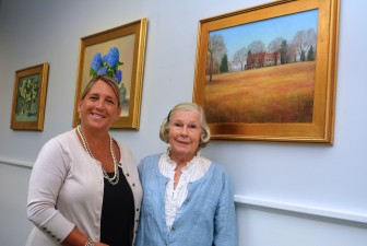Bankwell Elm Street branch manager Elizabeth Buzzeo (left) with Vera Rahn. Contributed