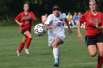 NCHS Rams varsity girls soccer player Madison Starr. Photo by Amy Murphy Carroll