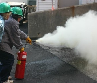 CERT training in fire extinguishing. Contributed