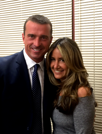 "Former NBA star Chris Herren and New Canaanite Wendy Lowy Sloane, host of ""What's Up WIth Wendy?"" radio show on 1490AM-WGCH. Contributed"