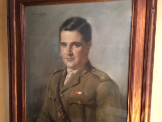 A portrait of Patrick Smith in his British Army uniform hangs in the family's Whitney Avenue home.