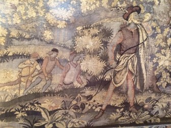 A close-up of the Herter Looms tapestry at Waveny House. Credit: Michael Dinan