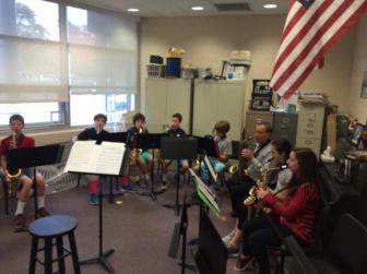 Sixth-grade Band Lessons in 400 square feet versus the recommended 600, a full 33 percent too small. Credit: Greg Macedo