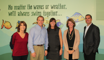 L-R: Dr. Ellen Fahey, Dr. Jeff Brooks, Dr. Trish McDonough Ryan, Jill Castle, Tom Sanseverino. Contributed