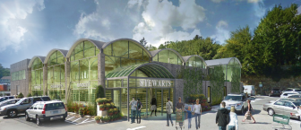 A rendering of plans for Walter Stewart's Market after Stewart's Spirits moves into a dedicated space just across the lot from the iconic Elm Street business. Rendering from Frederick William Hoag Architect
