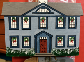 Hanford-Silliman House, part of an ornament collection that can be seen in full at the New Canaan Historical Society.