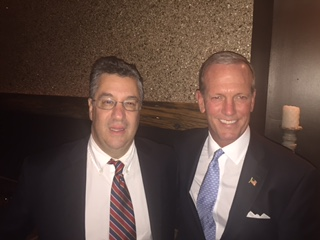 First Selectman Rob Mallozzi and Selectman Nick Williams on Election Night, 2015. Contributed