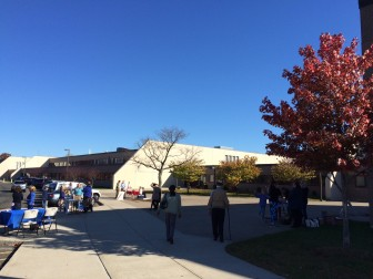 Nov. 3, 2015: Election Day at New Canaan High School, one of the town's two polling places. Credit: Michael Dinan