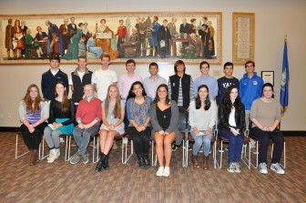 "Here are the 18 members of the New Canaan High School class of 2016 who have been named ""Commended Students"" in the National Merit Scholarship Program. Valerie Stryker photo"