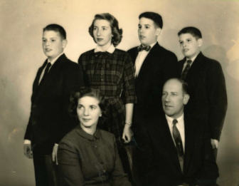 Stewart family photo, 1956. Courtesy of the Stewart family