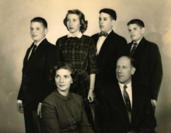 Stewart family photo, 1956. Courtesy of the Stewart family