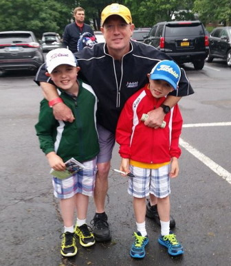 John Bergin, owner of Cherry Street East, with his boys James and Frankie. Mary Bianco Bergin photo
