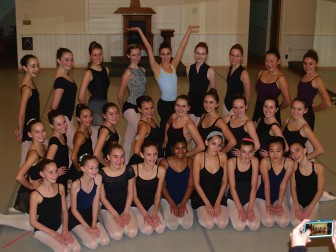 The New England Academy of Dance on Main Street welcomed home New York City Ballet professional dancer Mary Elizabeth Sell. Contributed